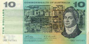 10 dolarów australijskich - banknot 2