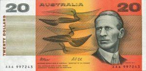 20 dolarów australijskich