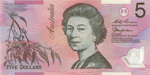5 dolarów australijskich
