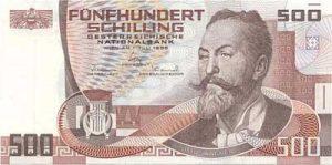 500 szylingów austriackich - banknot 2