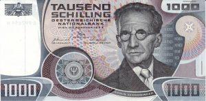 1000 szylingów austriackich - banknot 2