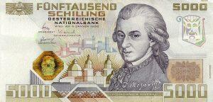 5000 szylingów austriackich