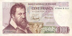 100 franków belgijskich - banknot 3