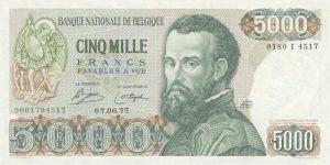 5000 franków belgijskich - banknot 2