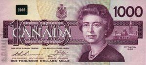 1000 dolarów kanadyjskich - banknot 2