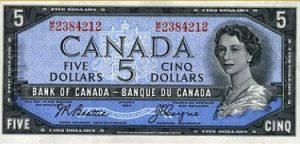 5 dolarów kanadyjskich