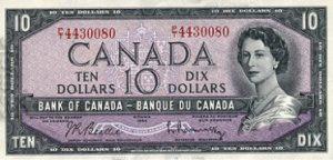 10 dolarów kanadyjskich