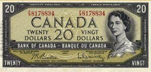 20 dolarów kanadyjskich