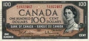 100 dolarów kanadyjskich