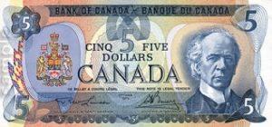 5 dolarów kanadyjskich - banknot 2