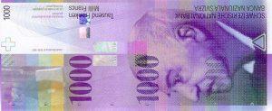 1000 franków szwajcarskich