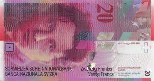 20 franków szwajcarskich