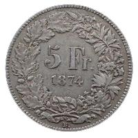 5 franków 1874
