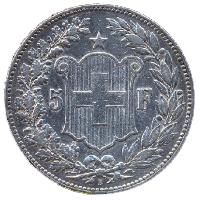 5 franków - awers