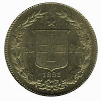 20 franków 1891