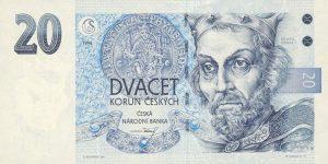 20 koron czeskich