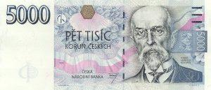 5000 koron czeskich