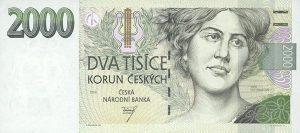 2000 koron czeskich