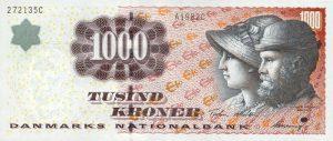 1000 koron duńskich