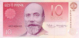 10 koron estońskich
