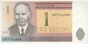 1 korona estońska