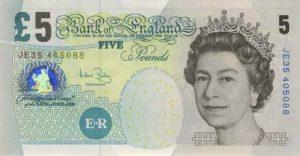 5 funtów brytyjskich