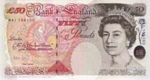 50 funtów brytyjskich
