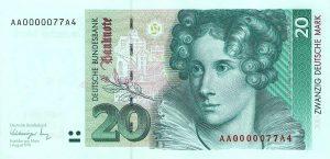 20 marek niemieckich - banknot 2