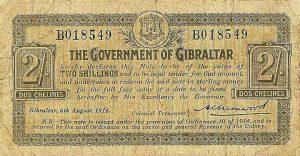 2 szylingi gibraltarskie - banknot 2