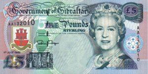 5 funtów gibraltarskich - banknot 2