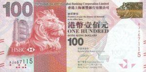 100 dolarów hongkońskich