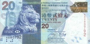 20 dolarów hongkońskich