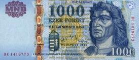 1000 forintów węgierskich