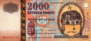2000 forintów węgierskich - banknot 2