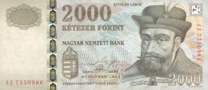 2000 forintów węgierskich
