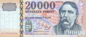 20000 forintów węgierskich