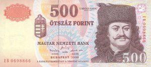 500 forintów węgierskich