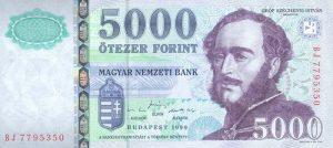5000 forintów węgierskich