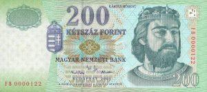 200 forintów węgierskich