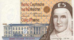 5 funtów irlandzkich
