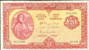 20 funtów irlandzkich - banknot 3