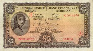 5 funtów irlandzkich - banknot 2