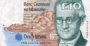 10 funtów irlandzkich
