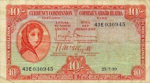 10 funtów irlandzkich - banknot 2