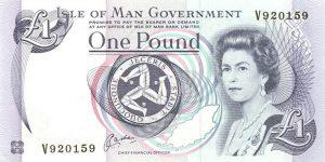 1 funtów manx - wyspa man