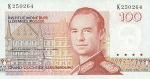 100 franków luksemburskich