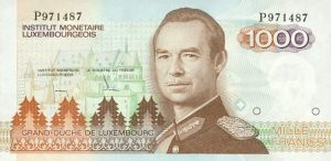 1000 franków luksemburskich