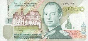 5000 franków luksemburskich