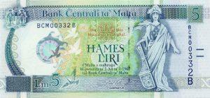 5 lir maltańskich