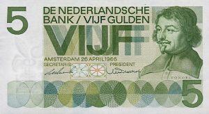 5 guldenów holenderskich